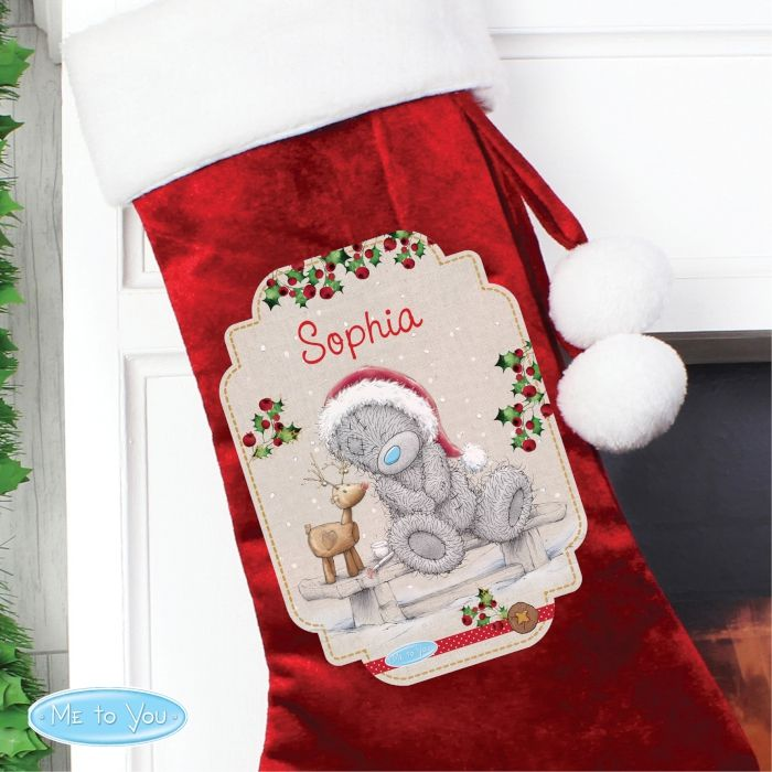 Personalised Me To You Reindeer Christmas Stocking | Personalised ...